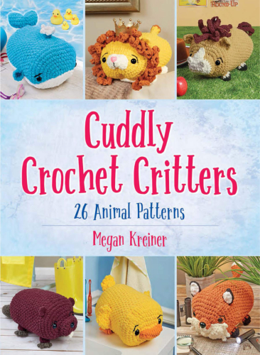 [Book: 'Cuddly Crochet Critters' by Megan Kreiner]
