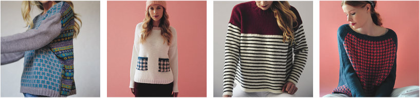4 sweater designs from Knit-It-Yourself, by Emma Wright.